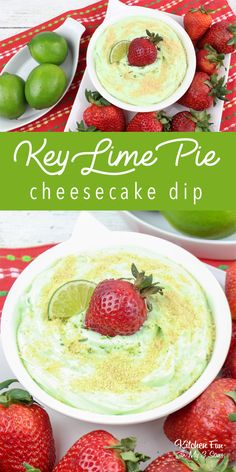 You're going to love this easy Key Lime cheesecake dip recipe. If you love the pie, you are going this think this is amazing! Healthy Dip Recipes, Lime Recipes, Appetizer Recipes, Fruit Appetizers, Cheese Recipes, Key Lime Dip, Key Lime Pie Cheesecake, Cheesecake Recipes, Key Lime Desserts