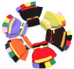 >> Click to Buy <<  New Winter Warm Multicolor Mittens Kids Gloves Thermal Knitted Fingerless Children Gloves Boys Girls For 1~4T #Affiliate
