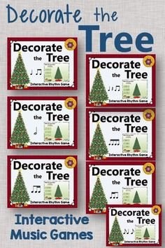 Interactive rhythm games perfect for December or Christmas. You elementary music students will love watching the tree decorate itself once they select the correct answer! Excellent Orff and Kodaly resource.