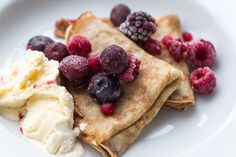Pancakes with Sparkling Mineral Water ( scroll down for English translation )