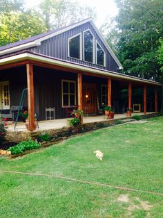 Fabulous Modern Farmhouse Exterior Design Ideas « You can find Metal homes and more on our Fabulous Modern Far. Metal Barn Homes, Metal Building Homes, Pole Barn Homes, Building A House, Morton Building Homes, Morton Homes, Pole Barn House Plans, New House Plans, Dream House Plans