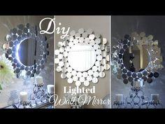 Diy Metallic Gold Wall Mirror Decor Easy Craft Idea For Creating an Awesome Wall Decor - YouTube