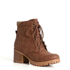 Soda Shoes Single Lace-up Bootie in Brown Pretty Shoes, Cute Shoes, Me Too Shoes, Brown Booties, Lace Up Booties, Shoe Boots, Shoes Heels, Lv Boots, Buy Mens Shoes