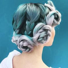 Knotted braid updo by Caralee Pridemore