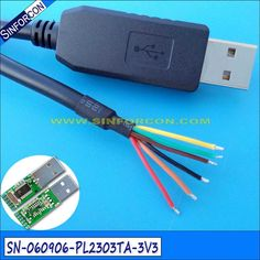 wire end diy pl2303ta usb uart ttl drivers cable wire end #Affiliate