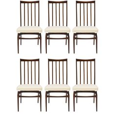 Set of Dining chairs by Giuseppe Scapinelli, mid-1950's | From a unique collection of antique and modern dining room chairs at https://www.1stdibs.com/furniture/seating/dining-room-chairs/