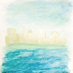 いいね!7件、コメント1件 ― tarou the painterさん(@tarouthepainter)のInstagramアカウント: 「The unknown place 2 #mind #imagine #view #vision #heaven #sea #sky #landscape #art #artwork…」