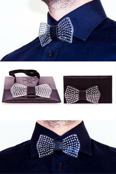 That\'s what happens when you mix Swarovski\'s crystals with our glass bow tie. Handmade in Italy.
