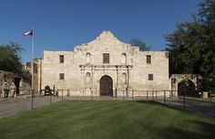The Alamo, in San Antonio, Texas, was built as Misión San Antonio de Valero in the early 1700s, and evolved into a military post by the early 1800s. It was the site of a battle in 1836 in which Texan defenders were defeated by Mexican troops. Photo, April 15, 2014. The Lyda Hill Texas Collection in photographer Carol M. Highsmith's America Project, Library of Congress Prints and Photographs Division.