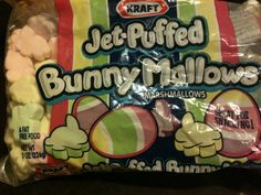 Bunny shaped marshmallows bought on clearance after Easter