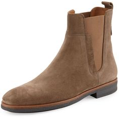 Vince Men's Suede Chelsea Boot (3,170 CNY) ❤ liked on Polyvore featuring men's fashion, men's shoes, men's boots, trffle, men's pull on boots, mens suede boots, mens suede shoes, mens slip on boots and mens slip on shoes