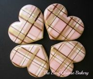Plaid Hearts, Michele @ The Last Course Bakery  #cookies www.finditforweddings.com