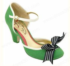 Sexy and charming green wedding shoes low heels comfortable G004