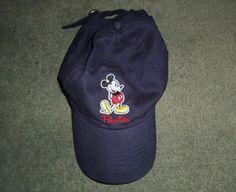 Men's Blue DISNEY MICKEY MOUSE FLORIDA Embroidered Hat, Adjustable Strap, GUC #Disney #BaseballCap