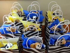 Zoo Party Goodie Bags- small stuffed or plastic animal, animal crackers, an African rolled bead necklace, mini Bibles, etc.