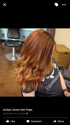 Copper red hair with highlights #copper #red #redhead #balayage #highlights