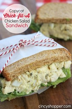 CopyCat Chick-fil-A Chicken Salad Sandwich Recipe. Perfect for lunch or dinner. Saves you $$'s from eating out.