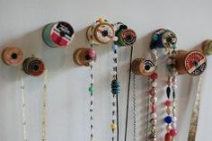 Tutorial: Make unique wall pegs from vintage spools of thread @Michele Boyce