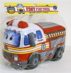 Bronx Toys FDNY Fire Truck Plush Toy by Bronx Toys. $15.96. Officially Licensed product of New York City. Custom FDNY packaging. 100% Polyester fill. Surface washable. Printed fabric detail. New York's Bravest to the rescue!  This beautifully hand made plush toy has all of the detail and excitement of a real New York City Fire Truck!