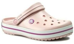 Crocs Crocband 11016 Pearl Pink/Wild Orchid CrocsCrocs Source by ladenzeile de mujer sandalias Clogs Outfit, Crocs Crocband, Crocs Shoes, Fancy Shoes, Me Too Shoes, Camilla, Business Chic, Dream Shoes, White Shoes