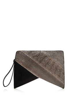 Printed Ayers And Nappa Boomerang Clutch by Narciso Rodriguez for Preorder on Moda Operandi
