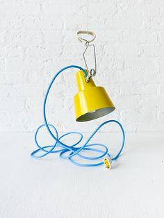 work lamp with blue cord by earthseawarrior