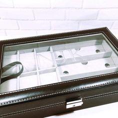 Mens Watch & Glasses Box - Brown / Blank Box