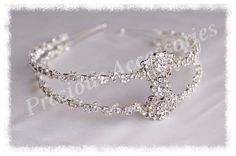 Close up of my Elise Tiara, available from www.preciousaccessories.co.uk