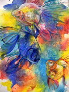Goldfish Trio II by Debra Lee