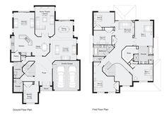 St Ives || Floor Plan - 424.30sqm, 14.60m width, 20.50m depth || Clarendon Homes Floor Plans