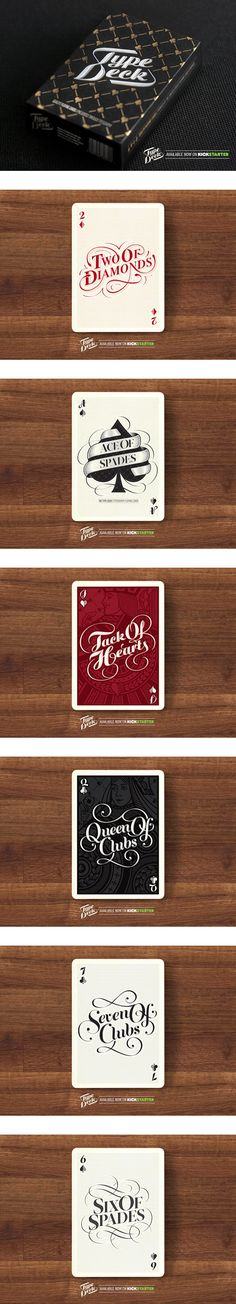The Type Deck - Typography Playing Cards