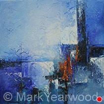Impromptu Blu by Mark Yearwood Acrylic ~ 12'' x 12''