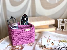 Large Storage Baskets, Small Storage, Eyeglass Holder Stand, Square Baskets, Terry Towel, Glass Holders, Storage Compartments, Glasses Case, Knitting Yarn