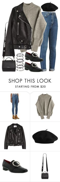"""Sin título #2390"" by alx97 ❤ liked on Polyvore featuring Yves Saint Laurent, Acne Studios, Dorateymur, Givenchy and M.N.G #acneclothing"