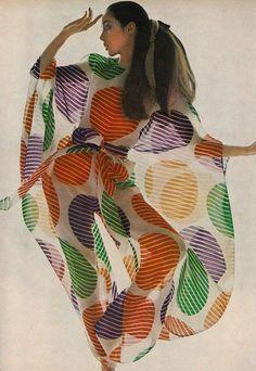Vogue US, March 1969  Photographer: Bert Stern  Model: Moyra Swan  Pierre Cardin, Spring 1969