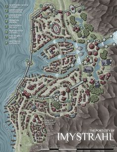 768 best dd maps towns images on pinterest in 2018 cities a commissioned map of the port city of imystrahl part of the primeval thule setting by sasquatch games please do not ask me why there are six quarters gumiabroncs Choice Image