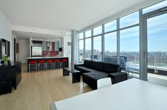 1 Northside Piers, Apt. PH-14 Brooklyn, Williamsburg: Exquisite Waterfront Penthouse. Introducing the Total Penthouse Package. This 2 full bed, 2.5 bath, 1270 sq ft luxury penthouse with 387 sq ft water facing wrap around terrace on the 27th floor has been super customized, raising it above the sky high standard of Williamsburg waterfront luxury already offered at Northside Piers. 24 hour doorman, indoor pool, gym, sauna, common roof deck, and prime location, are just the standard here.
