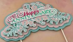 """This listing is for custom cake topper for any occasion. Anniversaries Mother's Day Gender Reveal Cake toppers includes 6"""" stick and cake topper height is 6"""" Colors can be customized to your choice Shipping and return policy Shipping is not included in the price and there are no returns and Custom Cake Toppers, Custom Cakes, Baby Shower Greetings, Explosion Box, Gender Reveal, Etsy Store, Colors, Shop, Party"""