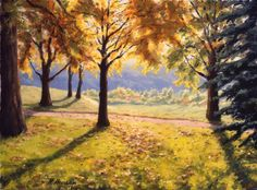 "Saatchi Online Artist Rick Hansen; Painting, ""Morning in the Park"" #art"
