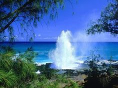My kids would call this Puff the Magic Dragon's home. Kauai, Blow Hole