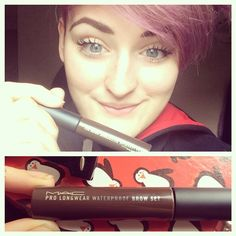 @lucybrowning loves her Mac brow set, saying she could not live without it