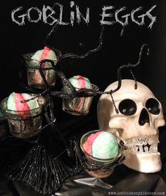 Bobbi's Kozy Kitchen: Goblin (Deviled) Eggs for Trick or Treat #SundaySupper #Halloween Party