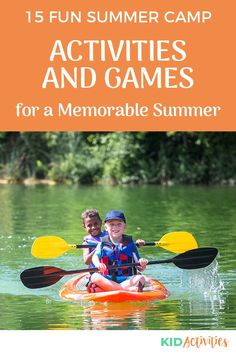 A collection of fun summer camp activities for kids. #KidActivities #KidGames #ActivitiesForKids #FunForKids #IdeasForKids Summer Party Games, Summer Camp Activities, Summer Activities For Kids, Kid Activities, Summer Kids, Outdoor Games For Kids, Fun Games For Kids, Games For Toddlers, School Games