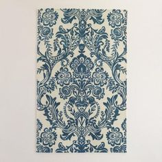 One of my favorite discoveries at WorldMarket.com: Ivory and Indigo Baroque Tufted Wool Area Rug