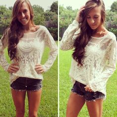 Absolutely stunning long sleeve lace top.  oversized.
