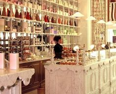 Laduree Tea room - The interior looks more like a an expensive boutique rather than a french bakery and tea room.