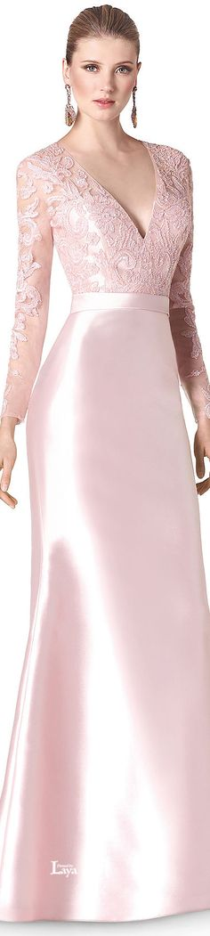 gorgeous pale pink dress but i dont think you need big gaudy earrings with that hairstyle Evening Dresses, Prom Dresses, Formal Dresses, Beautiful Gowns, Beautiful Outfits, Elegant Dresses, Pretty Dresses, Pink Fashion, Fashion Dresses
