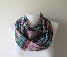 This colorful infinity scarf is made of an beautiful chiffon fabric. It is sewn with a double layer, the size of it allows for a double wrap. You can wear it long or double it up. The infinity scarf is easy to wear and a great way to dress up your outfit. It is stylish, feminine, soft and lightweight. It is a great addition to your wardrobe or also it can be perfect gift to your loved ones.  Details:  ♥ The infinity scarf has been sewn in double layer, no raw edges or open seams. ♥…