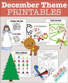 A Teaching Mommy has 35+ FREE Christmas preschool printables. You will find a variety of great preschool lessons and printables to use: candy canes,  nativ