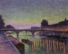 JAN TOOROP - But his beautiful depiction of Paris by night, Le Louvre et le Pont du Carrousel la Nuit, is typical of the lyrical nature of much of his work.